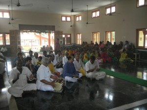 Bhajanas were sung throughout the day